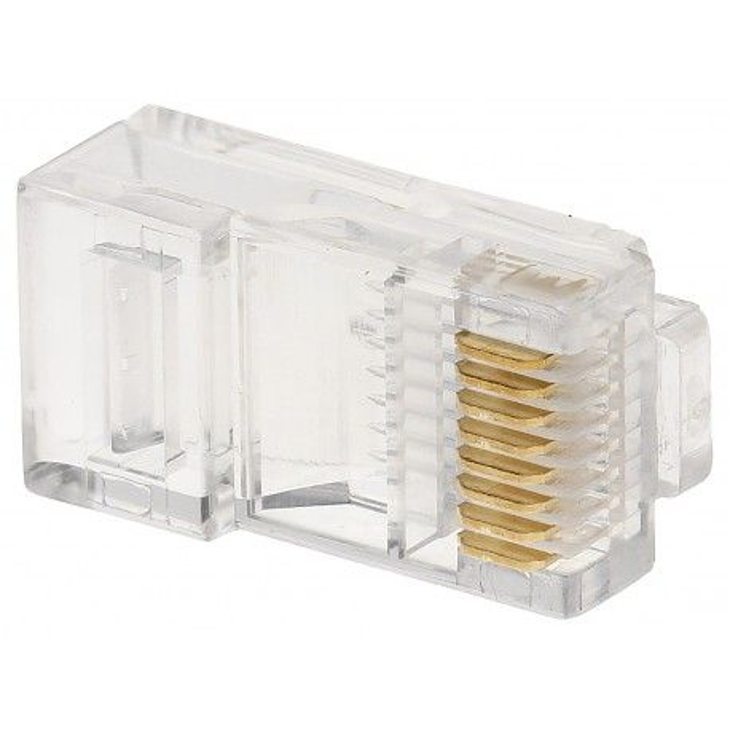 Mufă UTP (pini cu 3 lamele) Cat.5 RJ45/C53(100 buc)
