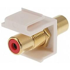 Cuplă modulară RCA Keystone FX-C2 (roșu)