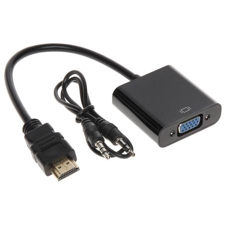 CONVERTOR HDMI/VGA+AU-ECO-3