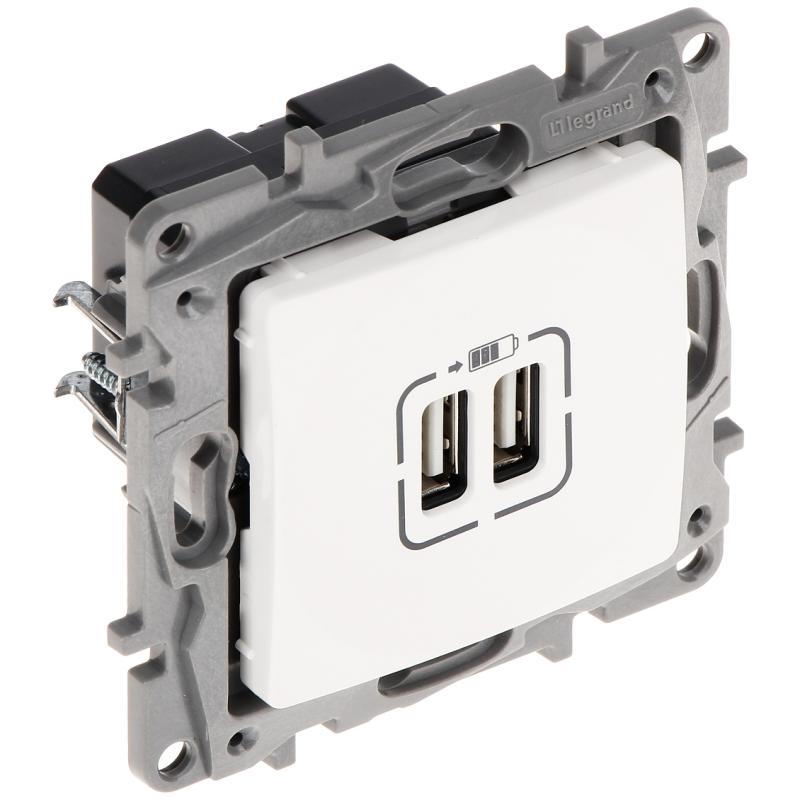 Priză încărcare USB LE-764594 Niloe 2 PORTURI USB 2.4A/5V LEGRAND