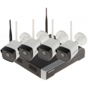 KIT SUPRAVEGHERE VIDEO NK42W0-1T(WD) Wi-Fi, 4 CANALE - 1080p 2.8 mm Hikvision