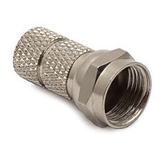 Mufă F înşurubare RG6 (7.2 mm, cupru nichelat)
