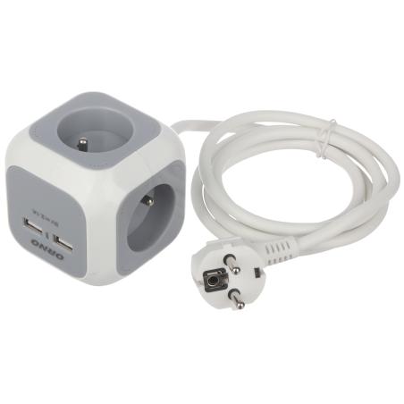PRIZĂ MULTIPLĂ OR-AE-13144 (4 PRIZE + 2 USB) ORNO